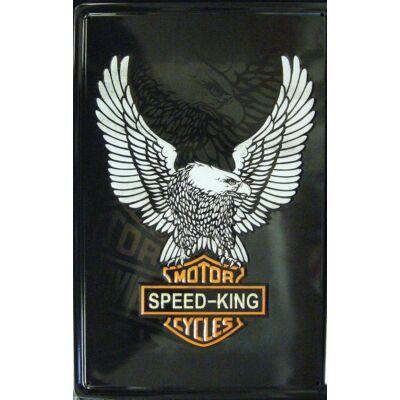 Retro fémtábla 20x30 Speed King sas 3D
