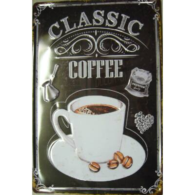 Retro fémtábla 20x30 kép Classic Coffe