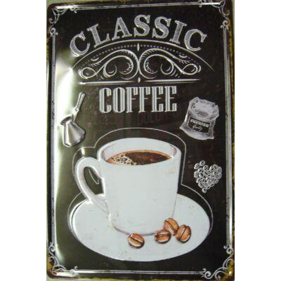 fémtábla 20x30 kávés csésze