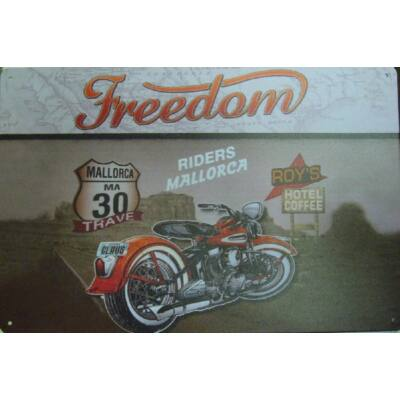 fémtábla 30x20 Freedom