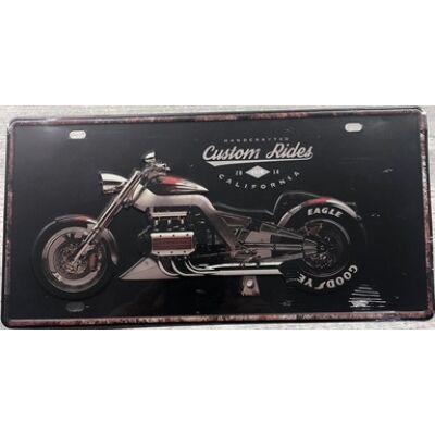 Retro fémtábla 30x15 kép Custom Rider 3D dombornyomású