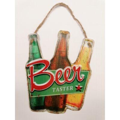 Fémtábla fém falikép Beer Taster