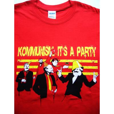 4c14da1ebe Póló Kommunista party L - Vicces póló