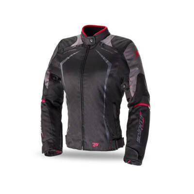 Seventy Degrees SD-JR49 női motoros kabát piros betéttel XL