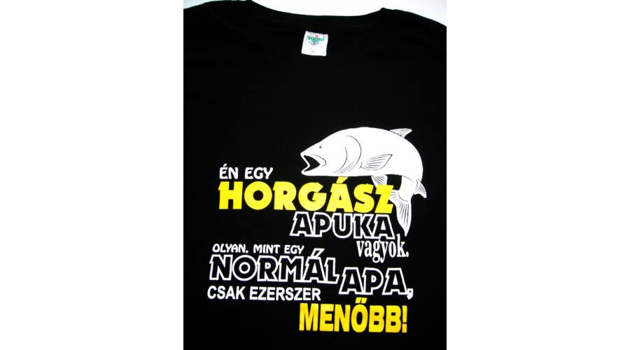 8ee7932a6f Póló Horgász apuka XL - Vicces póló